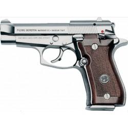 Pistolet Beretta 84F Calibre 9mm Court Nickelé
