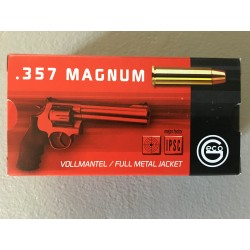 Cartouches Geco .357 Magnum FMJ 158gr - boite de 50