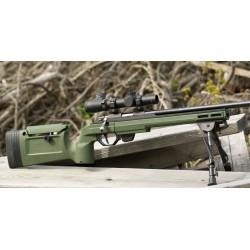 Carabine Tikka T1X avec crosse KRG Bravo verte rail 25moa
