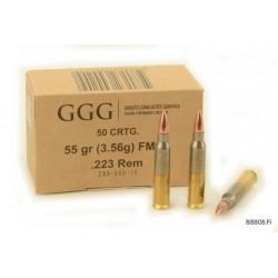 Cartouches Geco .223 Rem. FMJ - Lot de 1000