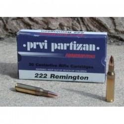 Cartouches PARTIZAN CAL. .222 Rem 55-GRS FMJ