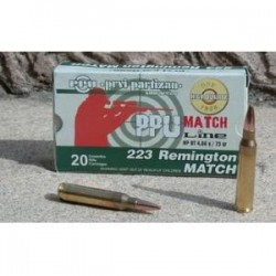 Cartouches PARTIZAN CAL. .223 Rem 75-GRS HPBT MATCH lot de 500