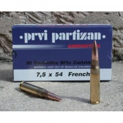 Cartouches PARTIZAN CAL. 7,5X54 French MAS 139-GRS FMJ lot de 1000