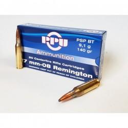 Cartouches PARTIZAN CAL. 7-08 REMINGTON 140-GRS PSP BT