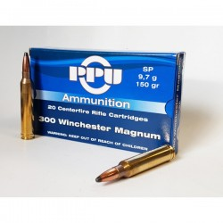 Cartouches PARTIZAN CAL. .300 WINCHESTER MAGNUM 150-GRS SP