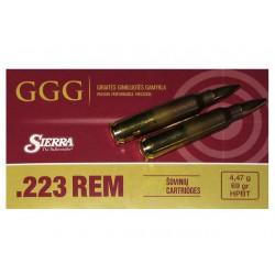 Cartouches GGG .223 Rem. HPBT 69gr - Boite de 20