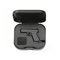 Porte-clé Glock noire dans sa boîte