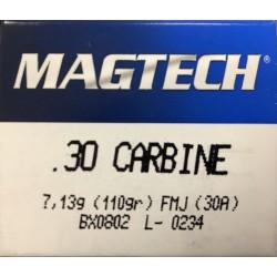 Cartouches MAGTECH .30 M1 110 gr FMJ boite de 50