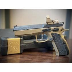 Pistolet CZ SHADOW 2 OR avec Leupold Delta Pro
