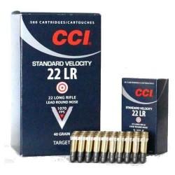 Cartouches CCI 22LR Standard boite de 50